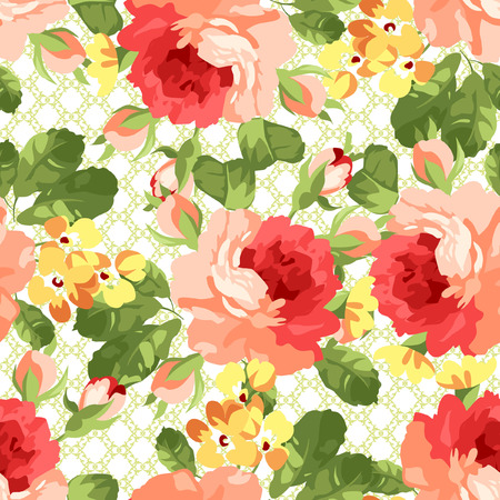 shabby: Beautiful floral seamless pattern.