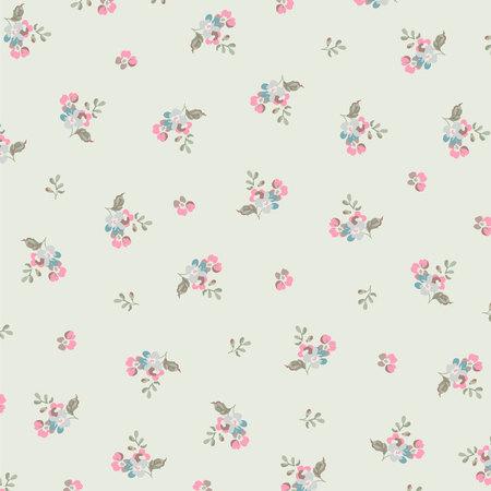 petites fleurs: Beau motif floral avec des petites fleurs Illustration
