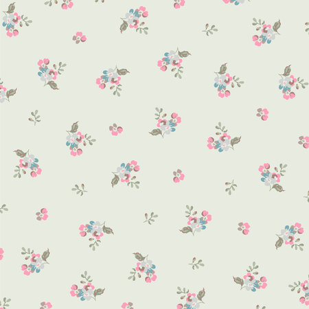 fashion design: Beautiful floral pattern with small flowers Illustration