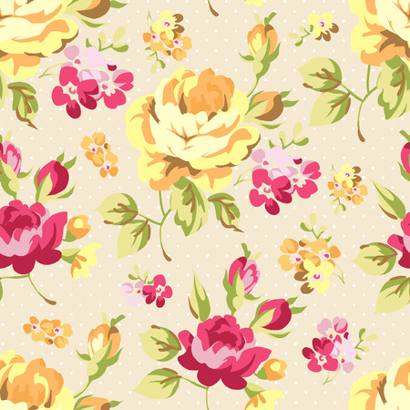 yellow roses: Floral seamless pattern with yellow roses Illustration