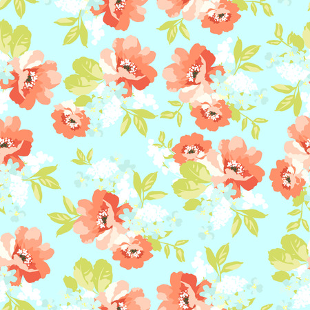 wild rose: Beautiful floral seamless pattern with  Flowers wild rose Illustration