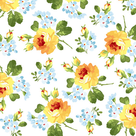 yellow roses: Beautiful floral pattern yellow roses