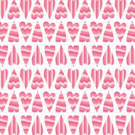 greetingcard: Abstract heart seamless pattern. Illustration