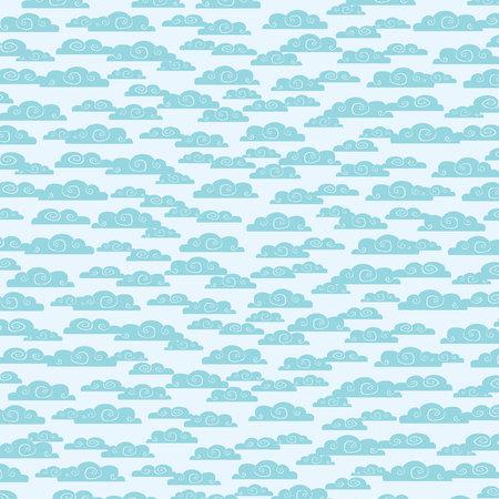 Nahtlose Muster mit Wolken
