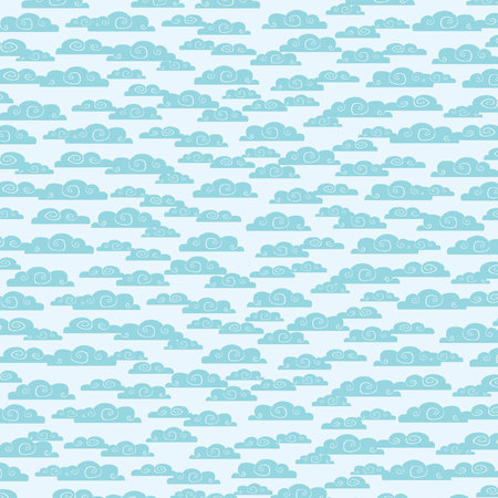 the heavens: Seamless pattern with clouds Illustration