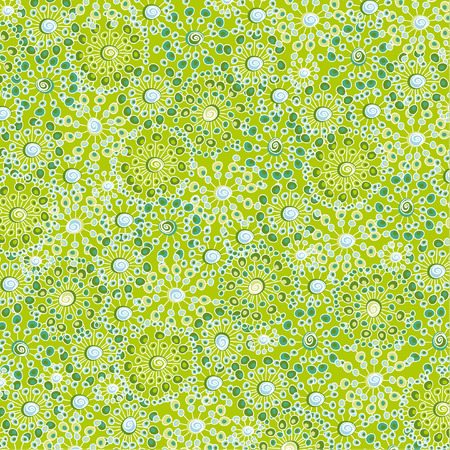 green flowers: Abstract spring floral pattern