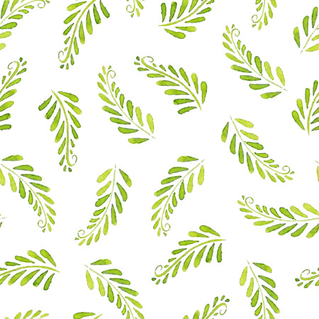 Seamless Patterns with  watercolor leaves