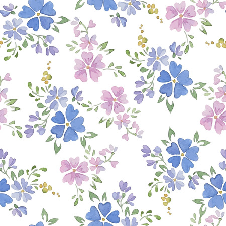 graphic pattern: Seamless Patterns with  watercolor flowers