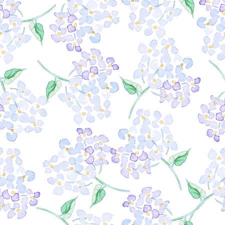 수채화 꽃과 원활한 패턴 일러스트