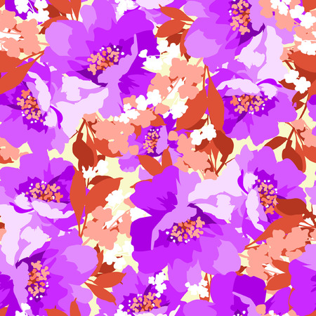 wild rose: Floral seamless pattern with Flowers wild rose Illustration