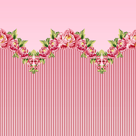 soulful: Seamless floral pattern with peonies