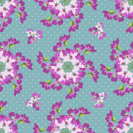 patter: Seamless floral patter with floral circles