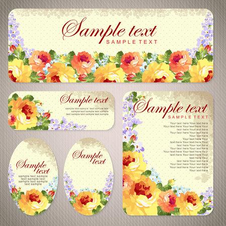 Carte vectorielle avec des roses jaunes et chevron Banque d'images - 49440195