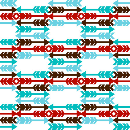 indische muster: Seamless pattern with arrows