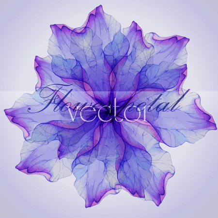 morado: Acuarela patrones circulares florales.