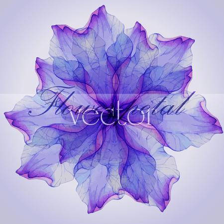abstrakt: Watercolor floral runden Muster. Illustration