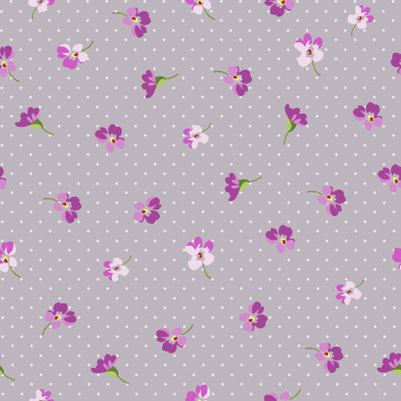 petites fleurs: Seamless floral patter with little pink flowers Illustration