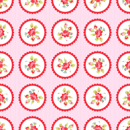 red rose bouquet: Seamless Pattern with red roses