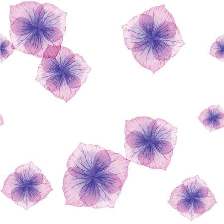 purple flowers: Seamless pattern with Purple flowers Illustration
