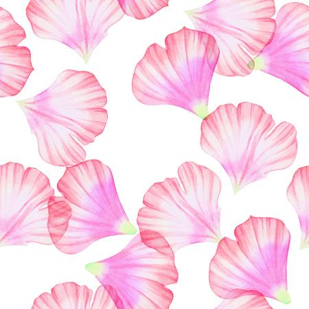 petal: Watercolor Seamless pattern with Pinc flower petal