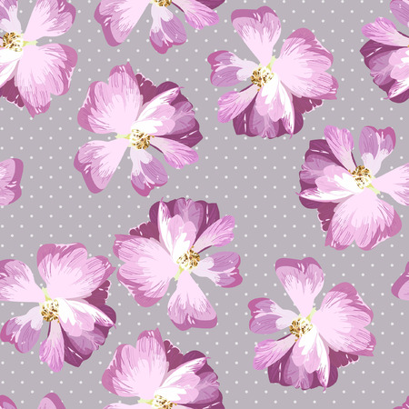 flowers bouquet: Seamless Pattern with pink roses