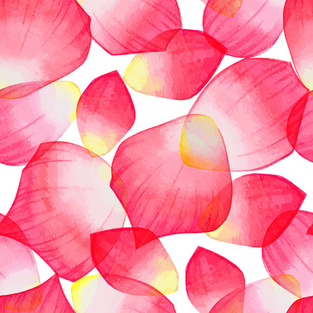 petals: Seamles pattern with red rose petals. Illustration