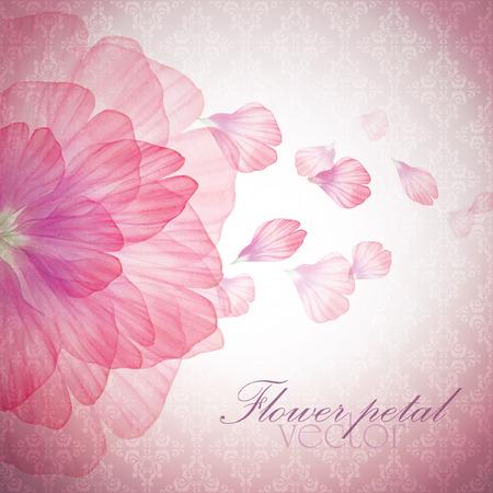 flor de durazno: Acuarela tarjeta floral de la vendimia