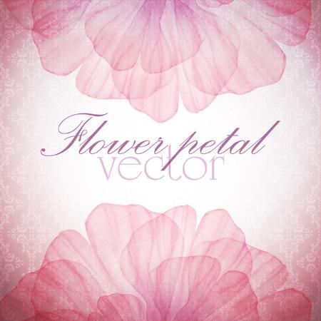 peach: Watercolor floral vintage card