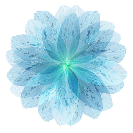Floral round pattern of blue flower petals, vector illustration Ilustração
