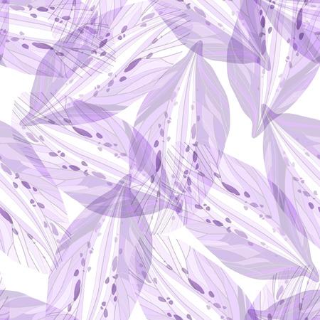 Seamless pattern with Purple flower petals Illustration