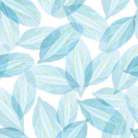 blue petals: Seamless pattern with Blue flower petals Illustration
