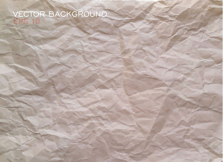 crumpled: Texture of crumpled paper. Vector illustration.