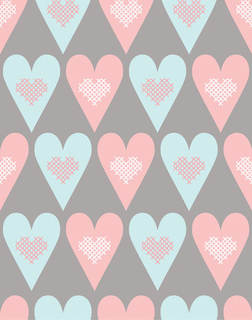 hart: Seamless pattern with pastel hart Illustration