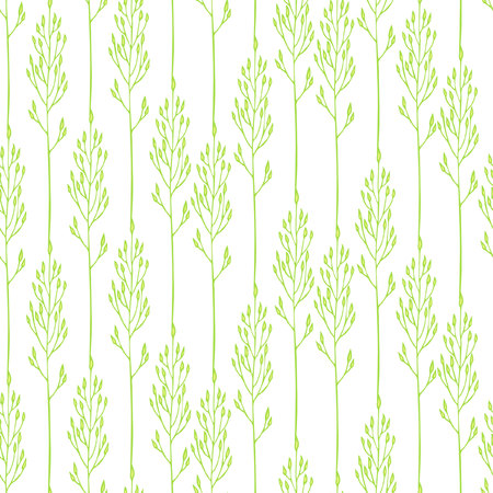 spikelets: Seamless floral pattern with spikelets, grass Illustration