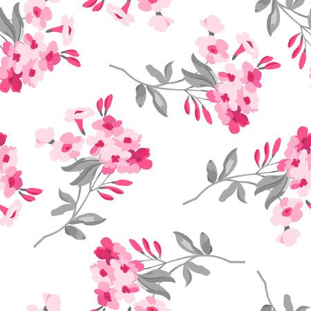 arte abstracto: Sin fisuras patr?n floral con flores de color rosa