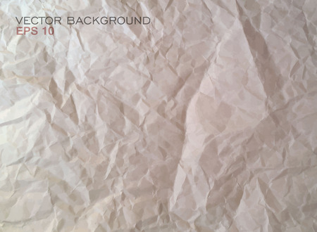 rough: Texture of crumpled paper. Vector illustration.