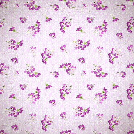 patter: Floral patter with little pink flowers Illustration