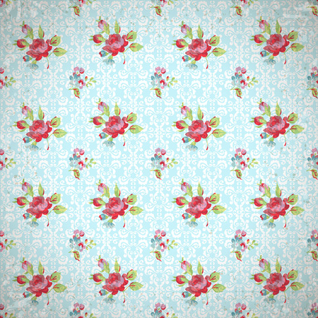 pattern background: Seamless Pattern with red roses