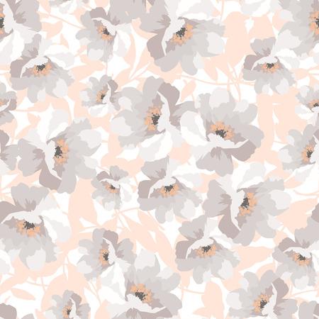 bouquet de fleur: Elegance Seamless pattern avec des fleurs roses, vecteur floral illustration, églantier