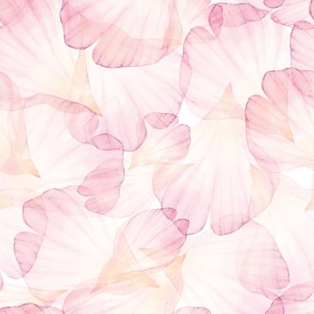flor: Modelo inconsútil de la acuarela. pétalo de flor rosa.