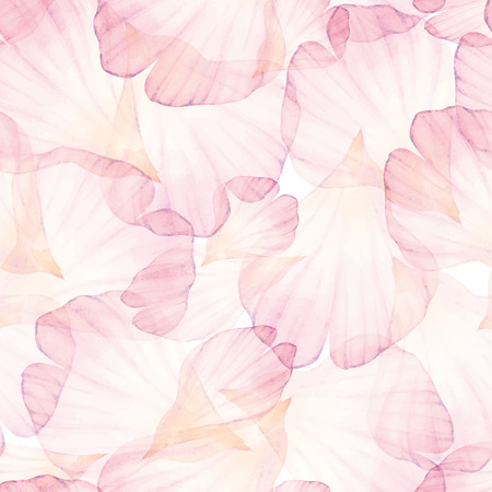 flower: Watercolor Seamless pattern. Pink flower petal.