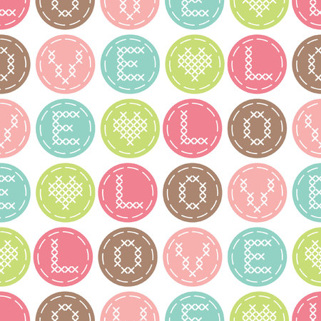 punto de cruz: Seamless pattern  with cross-stitch.