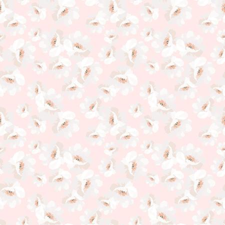 꽃 장미, 벡터 꽃 그림, 로즈힙과 우아함 원활한 패턴