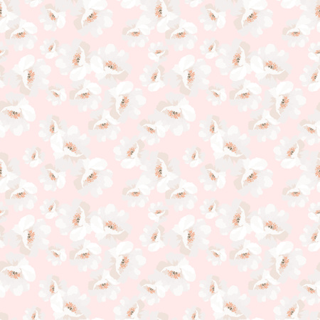 Elegance Seamless pattern with flowers roses, vector floral illustration, rosehip