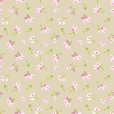 patrones de flores: Patrón sin fisuras con pequeñas flores de color rosa