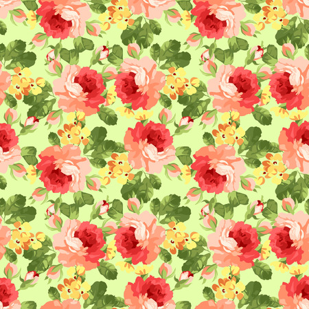 romantically: Beautiful Seamless floral pattern with rose.