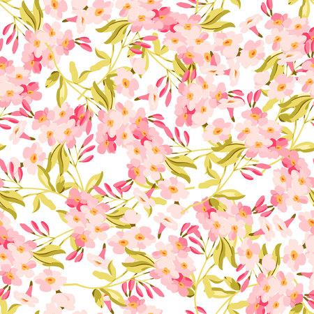 Seamless floral avec des fleurs roses