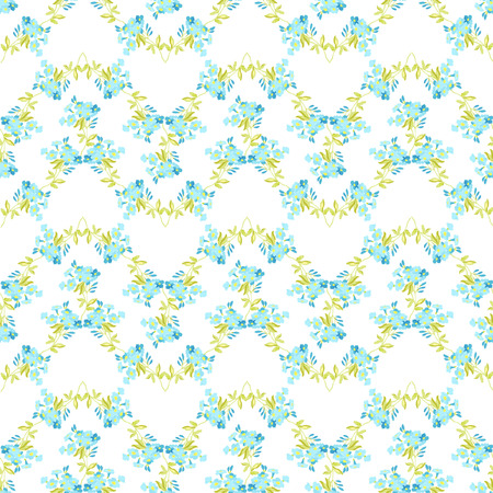 pattern vintage: Seamless floral pattern with Forget-Me flowers Illustration