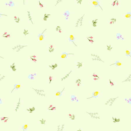 camomiles: Seamless floral pattern with small camomiles roses