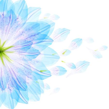 Floral ronda patrón de pétalos de flores azules Foto de archivo - 69938369
